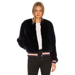 The Letterman Faux Fur JacketMOTHER