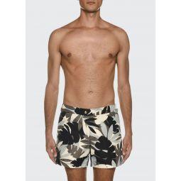 Mens Tropical Graphic Swim Trunks