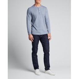 Mens Clean Relaxed Henley Shirt