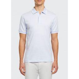 Mens Geo Zelig Jacquard Polo Shirt