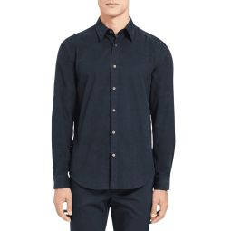 Mens Irving Corduroy Point-Collar Sport Shirt