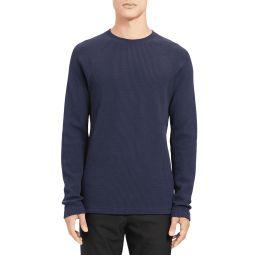 Mens River Organic Waffle-Knit Raglan Sweater