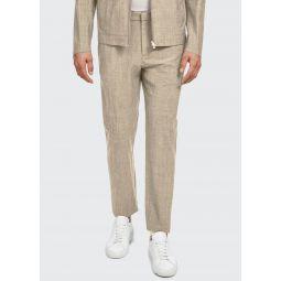 Mens Zaine Delor Slim-Straight Suit Pants