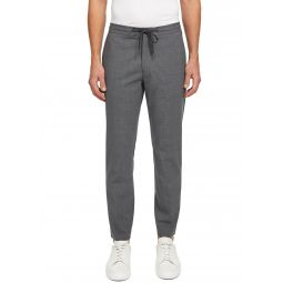 Mens Hunter Cropped Stretch-Wool Drawstring Pants