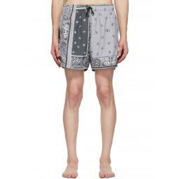 Mens Bandana Reconstructed Swim Shorts