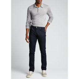 Mens Double-Cashmere Jersey Long-Sleeve Shirt