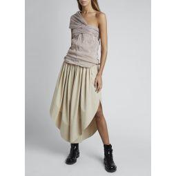 Linen/Cotton One-Shoulder Top