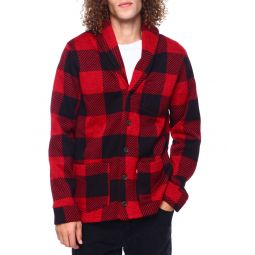 crimson buffalo plaid cardigan