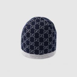 Childrens GG pattern wool hat
