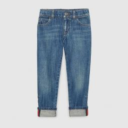 Childrens denim pant with Web