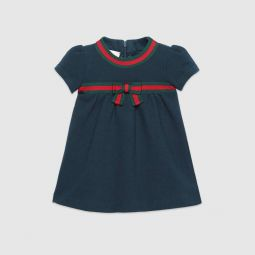 Baby cotton dress with Web bow