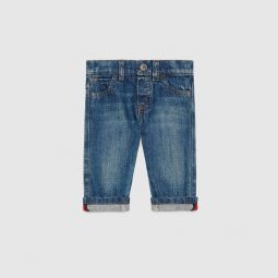 Baby washed denim pant