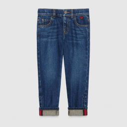 Childrens denim pant with heart