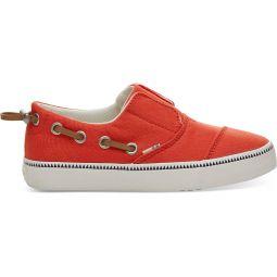 Red Canvas Youth Pasadena Slip-Ons