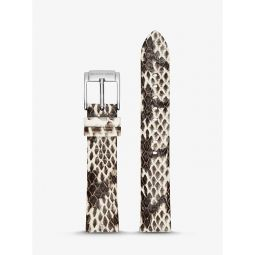 Runway Snake-Embossed Leather Watch Strap