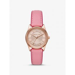 Colette Rose Gold-Tone and Leather Watch