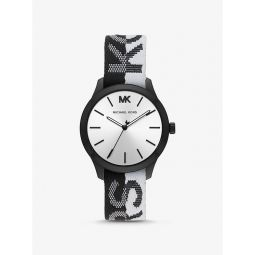 Runway Black-Tone Kors Woven Watch