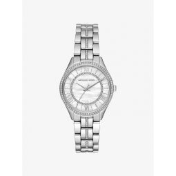 Mini Lauryn Pave Silver-Tone Watch
