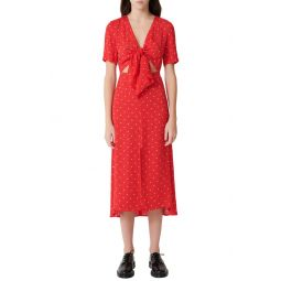 Rinoui Polka Dot Midi Dress