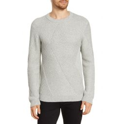 Fashioned Rib Regular Fit Crewneck Sweater