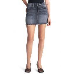 The Vagabond Frayed Denim Miniskirt