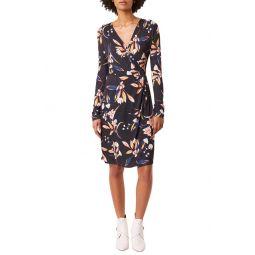 Raquel Floral Long Sleeve Faux Wrap Dress