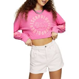 Escapology Long Sleeve Crop Graphic Tee