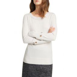 Button Cuff Cashmere Sweater