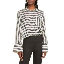 Bell Sleeve Silk Shirt