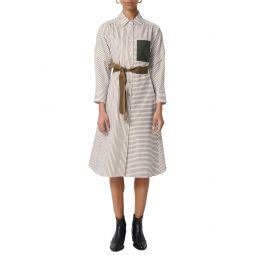 Rilula Belted Stripe Midi Shirtdress