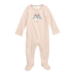 Penguin Applique Fitted One-Piece Pajamas