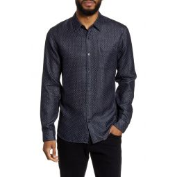 Classic Fit Double Face Button-Up Shirt