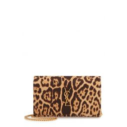 Kate Leopard Print Wallet on a Chain