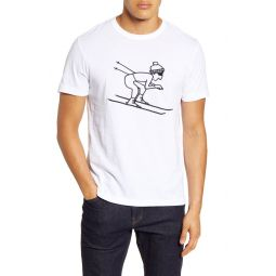 Skier Embroidered T-Shirt