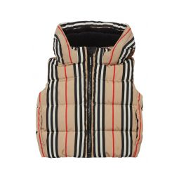 Leon Stripe Down Hooded Vest