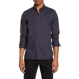 Slim Fit Dobby Button-Up Shirt