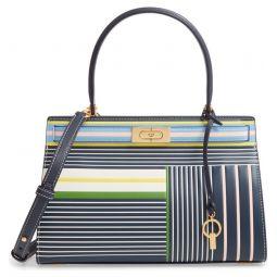 Small Lee Radziwill Stripe Leather Bag