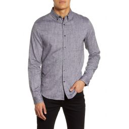 Slim Fit Stripe Button-Down Shirt