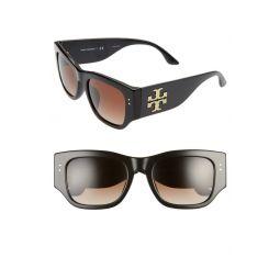 52mm Gradient Rectangular Sunglasses