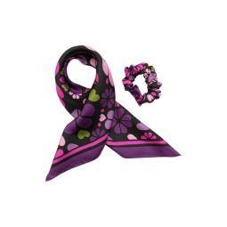 spade clover patchwork silk hair tie