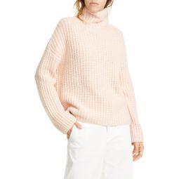 Lofty Wool Blend Funnel Neck Sweater
