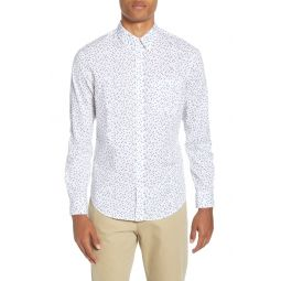 Agave Ditsy Slim Fit Button-Down Shirt
