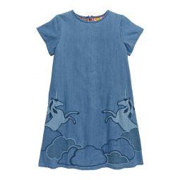 Unicorn Applique Woven Dress