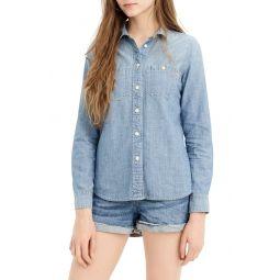 Button-Up Japanese Denim Shirt