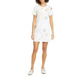 Handkerchief Print Cotton T-Shirt Dress