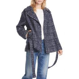 Textured Wrap Coat