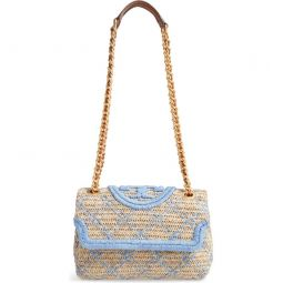 Small Fleming Straw Crossbody Bag