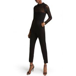 Leah Mesh & Jersey Jumpsuit