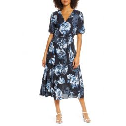 Caterina Floral Chiffon Midi Dress
