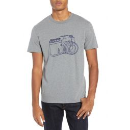 Camera Slim Fit Cotton T-Shirt